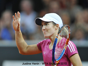justine henin,tennis today results and scores